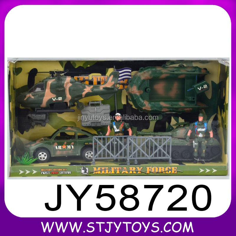 Plastic military set special forces soldier play toy