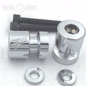 "HTT Motorcycle Chrome Swingarm Spools ""Sun"" Engraved Logo For Suzuki RF900/R/SFV650 Gladius/SV1000/S/SV650/SV650/A/SA /SV650S/TL1000R/TL1000S"