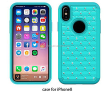 2017 Shockproof Dual Layer Hybrid Case Heavy Duty for iPhone 8
