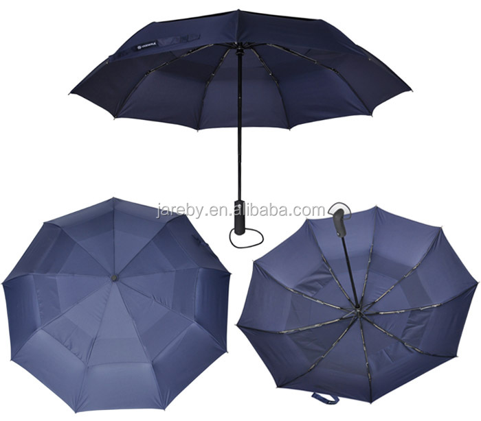 auto open close double layer umbrella windproof folding umbrella