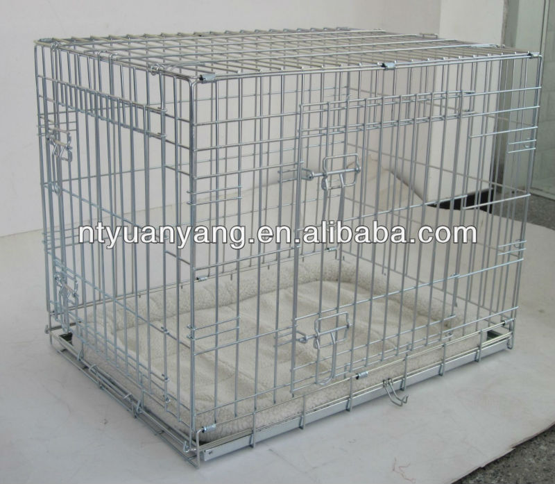 "24"" 30"" 36"" 42"" 48"" galvanized foldable wire dog cage"