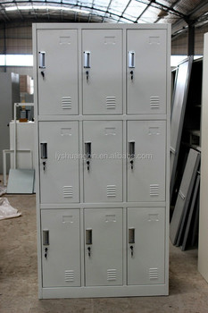Cheap Durable Gym Metal Locker/9 Door Metal Locker Cabinet/Luoyang  Shuangbin Office Furniture