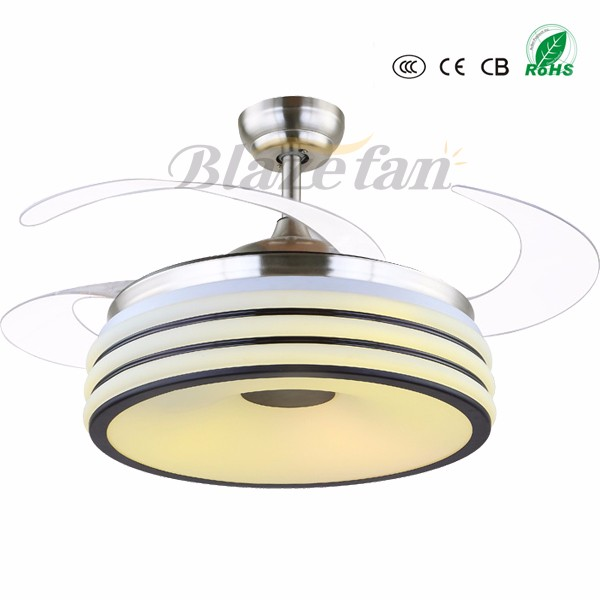 Good quality remote control decorative ceiling fan with hidden blades