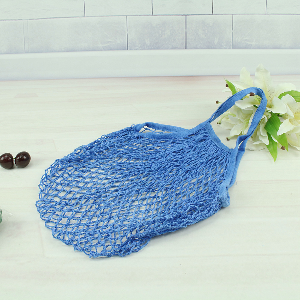 Cotton mesh string pouch bag 100% cotton net fabric handle <strong>totes</strong>