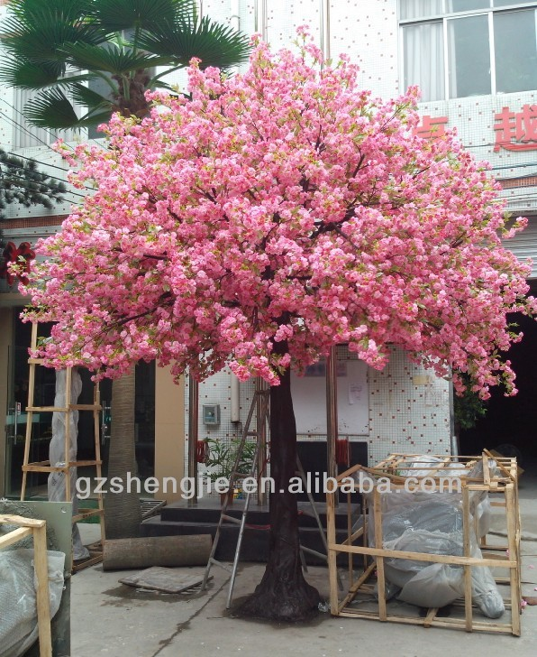 Artificial Pink Decoration Cherry Blossom Tree Centerpiece Silk Wedding