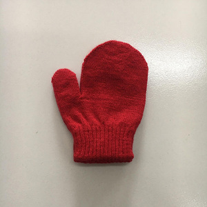 wholesale fashion soft woven winter mittens for adults