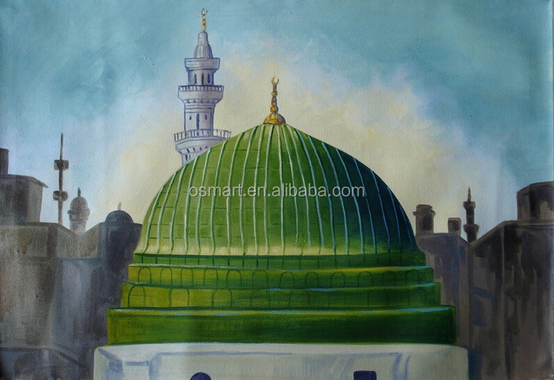 Amzaing Design High Quality Low Price Handmade Khana Kaaba Oil Painting on Canvas for Wall Decoration