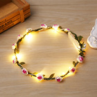 2018 new design head crown led flower headband bridal hair accessories for girls