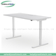 Ningbo Okey ED02-2T-3W white color Electric height adjustable sit to stand computer desk