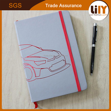 Creative Car Printing Custom Logo PU Leather Cover a5 a6 note book For Promotion