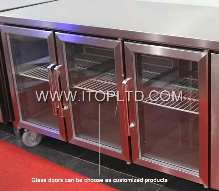 curved glass saladette refrigeration equipment