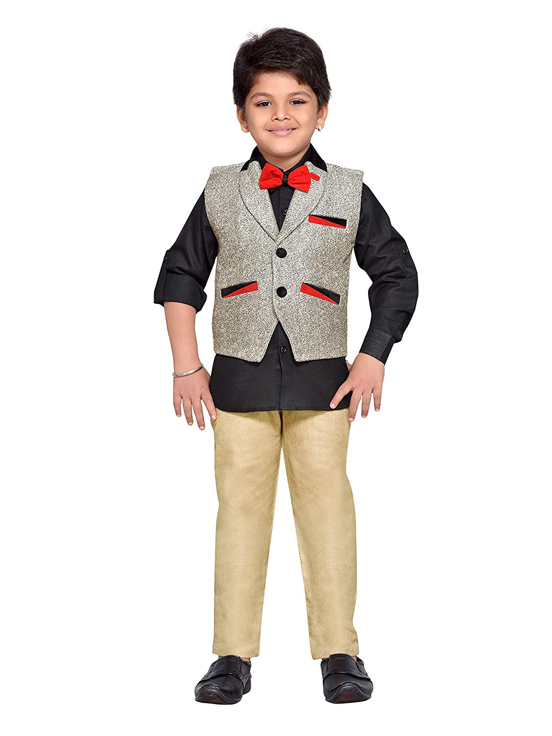 b34a4f5e2c4 Get Quotations · AJ Dezines Kids Indian Party Wear Bollywood Style Clothing  Set for Baby Boys