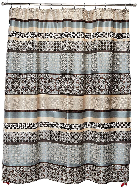 Madison Park Princeton Geometric Jacquard Fabric Shower Curtain Transitional Curtains For Bathroom 72
