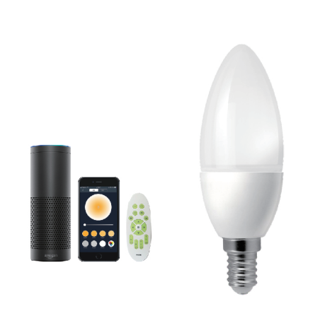 led E12 5W warm white to cold white WiFi Bulb Smart Candle Light Compatible with Alexa and Google Assistant and IFTTT