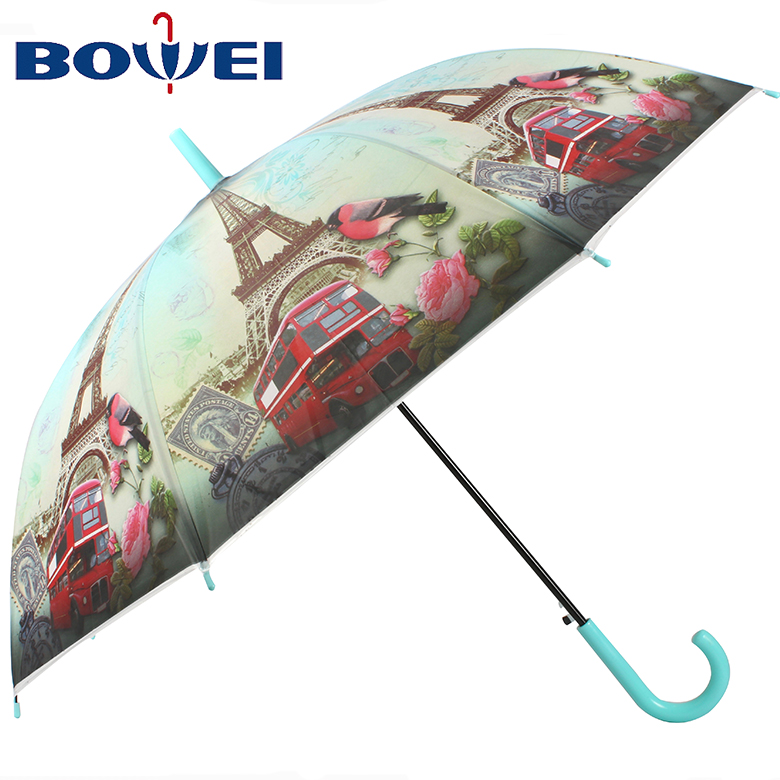 China supplier hot sales poe material umbrella branded with printing