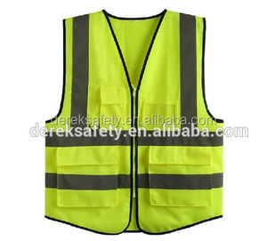 Wholesale Clothing High Visibility 3m Reflective Safety Vest with pocket