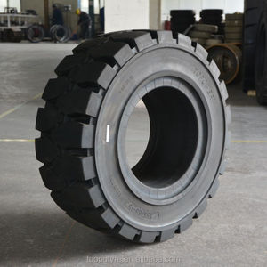 355/65-15 forklift solid tires in port steel mill