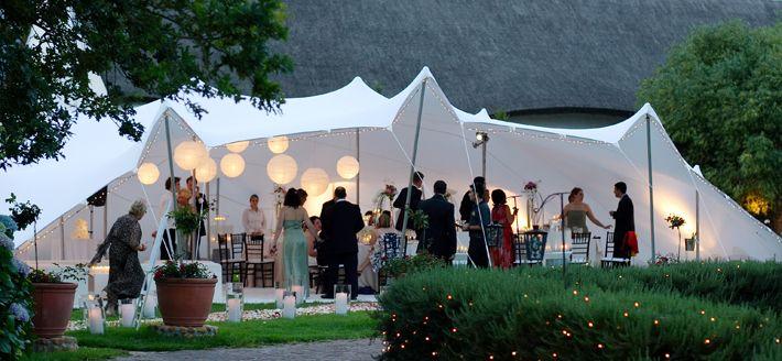 white wedding stretch tent