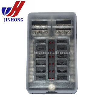 marine caravan auto 12 ways 12v blade fuse box fuse holder, view 12 marine fuse terminal block marine caravan auto 12 ways 12v blade fuse box fuse holder