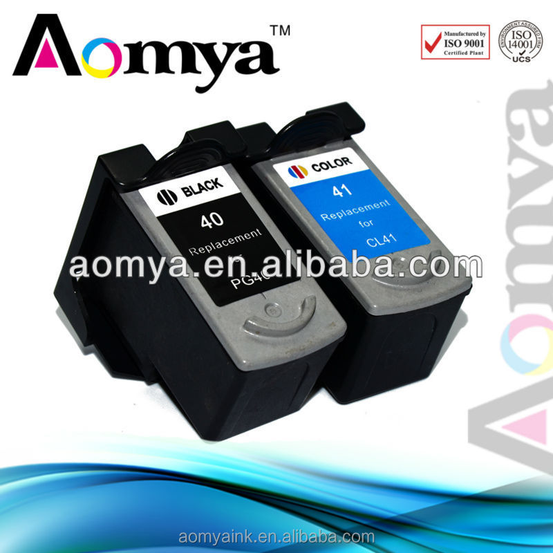100% pre-tested compatible remanufactured Ink cartridge For Canon PG40 CL41