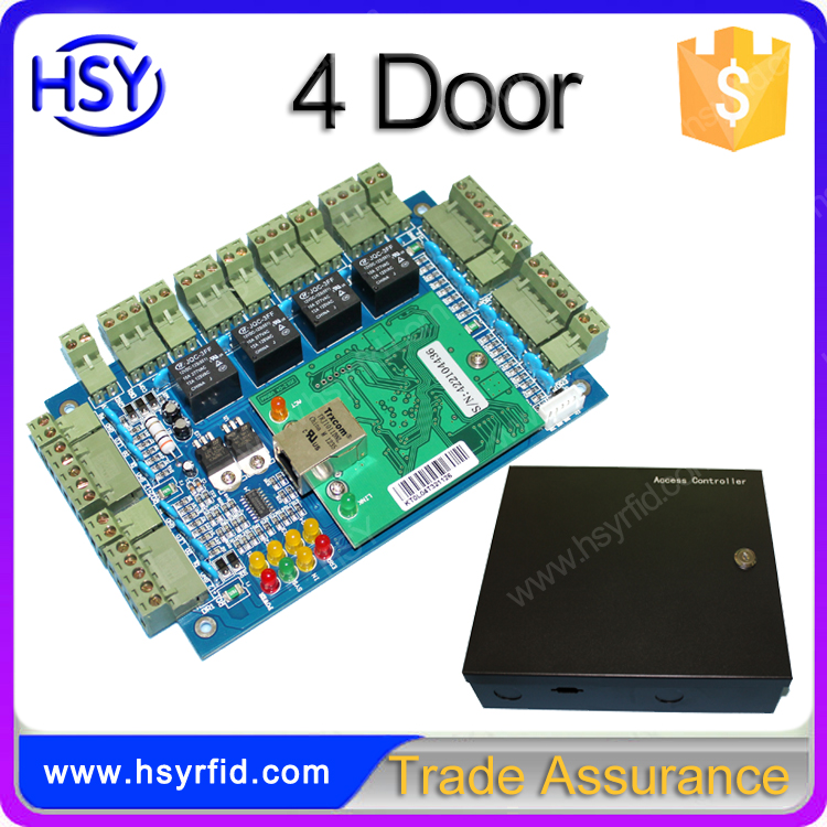 Wiegand26 Rfid Tcp/ip Network Two Door Access Control Board Panel Controller For 2 Door 4 Reader With Free English Software Access Control Accessories