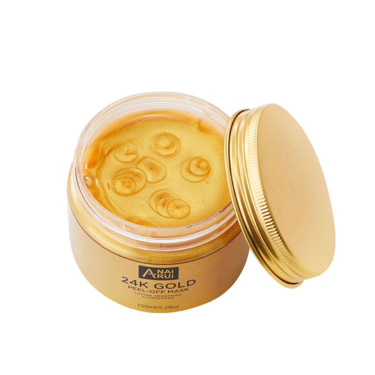 OEM 24 k Or Masque Facial Anti-Rides Hydratant Masque Peel off 24 Or Masque Facial