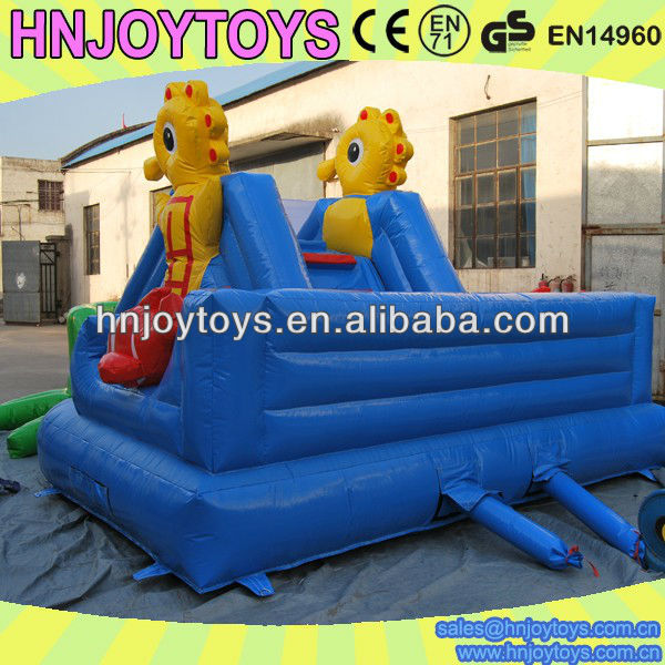 New design turtle inflatable pool slide