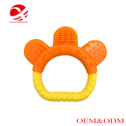 2017 new design organic baby soft teether toy