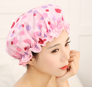 high quality hot selling and heavy duty PEVA material lined shower cap