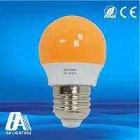 Red blue yellow plastic 3w rgb led bulb light E27 led lamp 100-240v