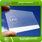 Beau Transparent cartes de visite en plastique