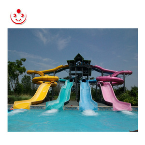 Cheap Large Straight Multi-lane Big Water Slide for Sale