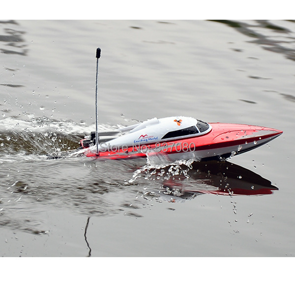 Free shipping 2014 new Mini RC boats DH 7009 RTG red colors 35cm long Remote Control Toys RC Boat DH7009