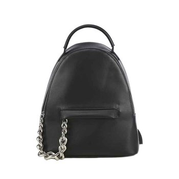 Factory directly long-term service high quality black college girls leather backpack bags