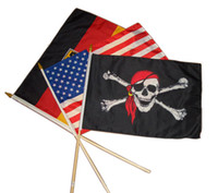 Polyester Political Hand Stick Flag With Logo