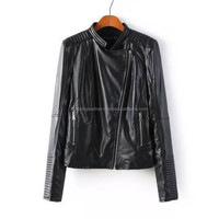 Womens Overcoats Fashion Slim Outwear Motorcycle Pu Leather Jackets