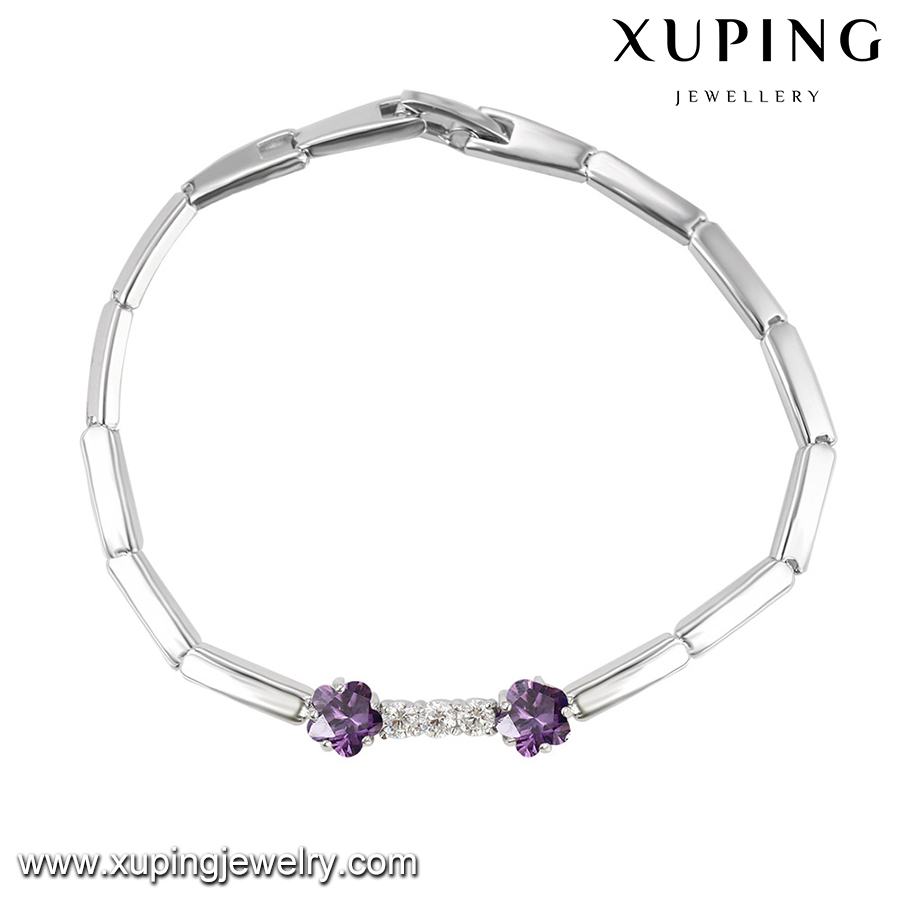 72773 New Styles Design silver plated colorful flower bracelet for women girls Wholesale Jewlery