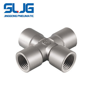 Nickel brass Pneumatic 4 way brass fitting