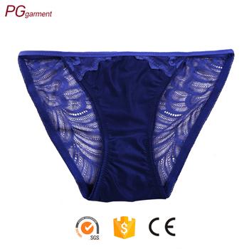 dae8baf7579 2017 latest design popular 100% cotton plus size lace lady panty sexy  transparent ladies women