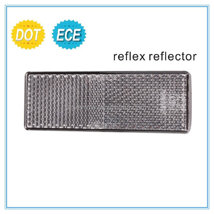 retangle shape reflex reflector for motorcycle, motorbike reflex reflector with E-MARK DOT approval