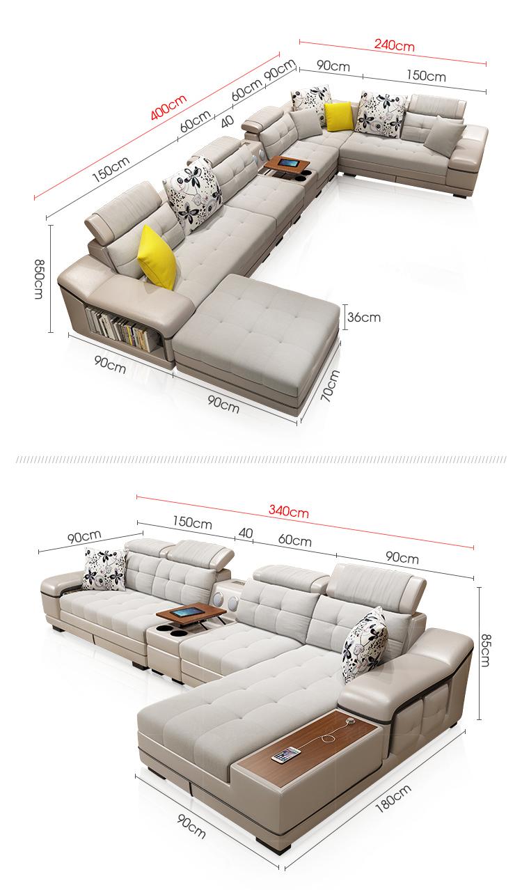 Venda por atacado sofá de canto em forma de l, sofá secional, sofá de 7 lugares, sala + sofás