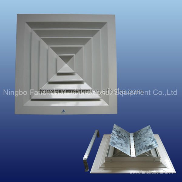 Square Air Diffuser With Damper For Hvac System Cd Sa Vcd Ceiling Diffuser For Air Ventilation Buy Aluminum Air Diffuser With Damper Ceiling