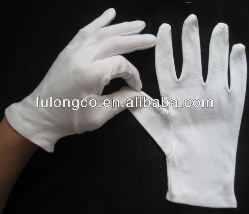 Extra Long Ladies White Cotton glove