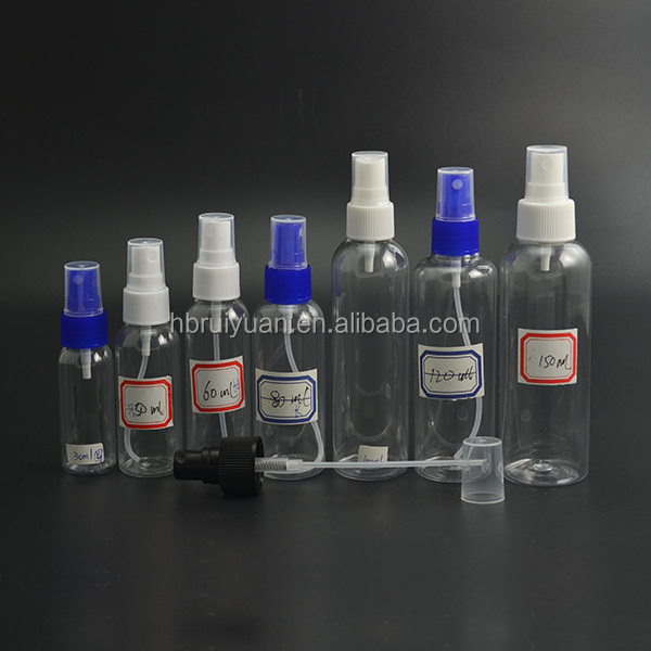 Clear Plastic 2 OZ PET Empty Spray Bottles Refill Mist Pump Travel Reuse Bottle
