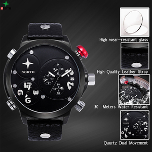 North China Stainless Steel Back Water Wesistant Analog Quartz Watch