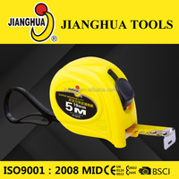 Top Brand of Jianghua in China highly flexibility three protection layers 5m high quality line of tape measures
