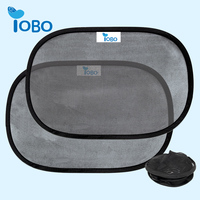 Promotional Static Cling Car Window Sunshade Foldable Car Static Cling Sun shade For Side Window