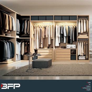 Modern Steel Bedroom Wardrobe Design Closet Sliding Doors Walk In
