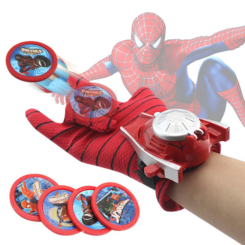 24cm Batman Spider Man Glove PVC Action Figure Spiderman Launcher Toy Batman Cosplay Kids Toy Original