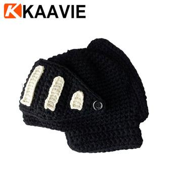 Men Boy Women Crochet Knit Roman Knight Helmet Ski Hat Winter Warm